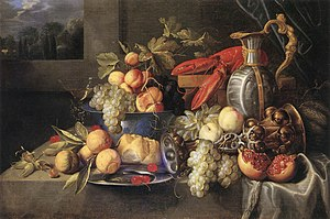 Alexander Coosemans - Still life with lobster and bread
