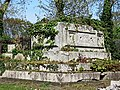 All Hallows Church Tottenham London England - churchyard chest tomb overgrown 5.jpg