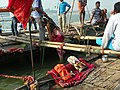 Allahabad, Triveni Sangam 13 - ritual bath (25655957378).jpg