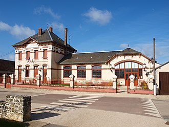 Allainville, Yvelines - The town hall in Allainville
