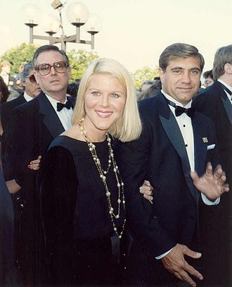 Alley Mills - Mills at the 1989 Emmy Awards with Dan Lauria