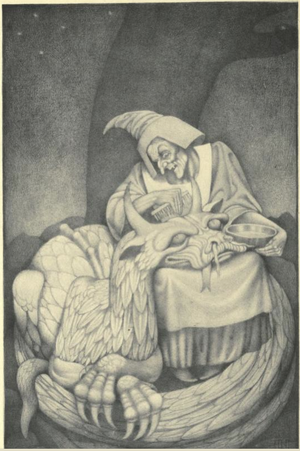 Allison Gross - An illustration of the ballad by Vernon Hill
