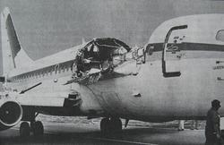 המטוס על מסלול הנחיתה בקהולוהי