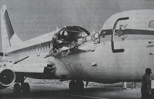 Aloha Airlines Flight 243 - Fuselage of Aloha Airlines Flight 243 after the explosive decompression.