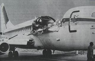 Aloha Airlines Flight 243 1988 domestic passenger plane crash over Kahului, Hawaii, USA