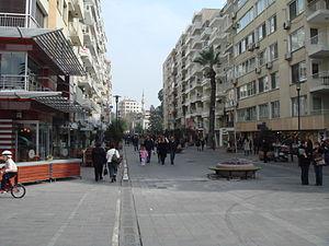 Alsancak - Kıbrıs Şehitleri Avenue, the main street of Alsancak.