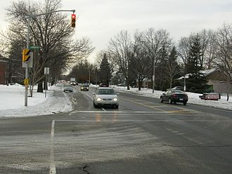 Alta Vista Drive - Alta Vista Drive looking south in Riverview