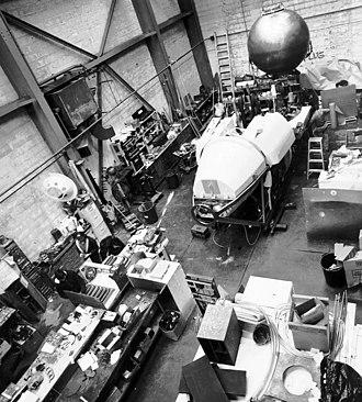 DSV Alvin - Alvin during refit of the personnel sphere