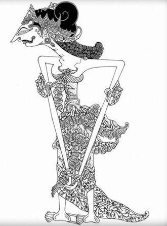 Amba (Mahabharata) - Amba, a Javanese puppet