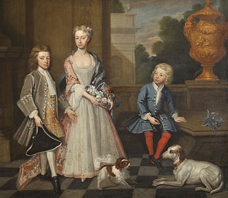 Charles Ambler (barrister) - Charles Ambler with his elder brother Humphry and sister Elizabeth by Joseph André Cellony
