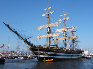 SAIL Amsterdam - The ''Amerigo Vespucci'' during Sail 2005