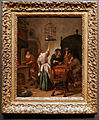 Amsterdam - Rijksmuseum 1885 - The Gallery of Honour (1st Floor) - The Parrot Cage c. 1665 by Jan Steen.jpg