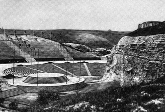Thingspiele - Feierstätte der Schlesier at the Annaberg in Silesia in a Nazi-era photograph