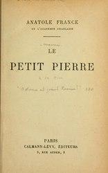 Anatole France: Le Petit Pierre