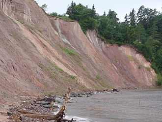Vytegorsky District - Andoma Hill, the formation on the coast of Lake Onega close to Andomsky Pogost