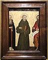 Andrea da asti (attr.), ss. antonio abate, francesco e giovanni battista, 1425-50 ca. (catharijneconvent, utrecht).jpg