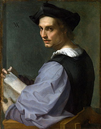 Andrea del Sarto - The so-called Portrait of a Sculptor, long believed to have been Del Sarto's self-portrait.