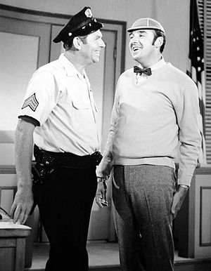 The Jim Nabors Hour - Guest star Andy Griffith and Nabors in a skit from the show's premiere, September 25, 1969.