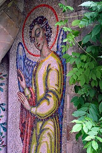 Boris Anrep - Maud Russell Angel mosaic at Mottisfont Abbey, 1946