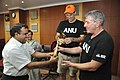 Anil Shrikrishna Manekar Presents Dhokra Horses to Graham Walker and Stuart Kohlhagen - NCSM - Kolkata 2017-06-22 3002.JPG