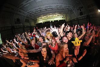 Animethon - Conventions goers enjoying the Japanese concert at Animethon 19