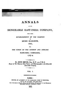 Annals of the Honorable East-India Company Vol 1.djvu
