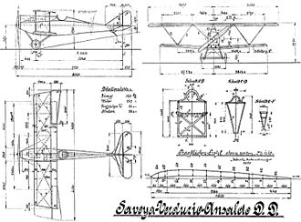 Ansaldo SVA - German-drawn Ansaldo SVA drawing, Baubeschreibung-style