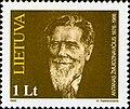 Antanas Žmuidzinavičius 1996 Lithuania stamp.jpg