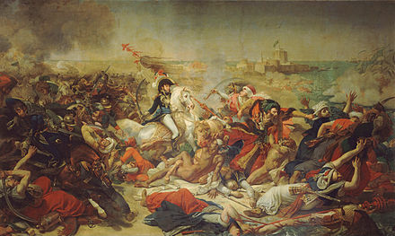 General Murat at the battle of Abukir, where 4,000 Ottoman soldiers drowned in the Nile Antoine-Jean Gros - Bataille d'Aboukir, 25 juillet 1799 - Google Art Project.jpg
