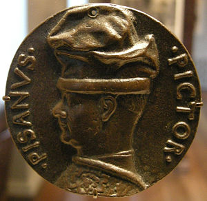 Pisanello - A medal showing the profile of Pisanello