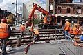 Anzin & Valenciennes - Travaux de raccordement des lignes A & B du tramway de Valenciennes à la Croix d'Anzin le 19 août 2013 (28).JPG