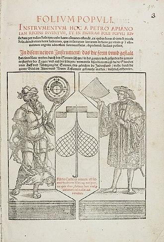 Petrus Apianus - Folium populi, 1533