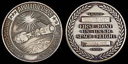 Apollo-Soyuz Test Project Flown Silver Robbins Medallion