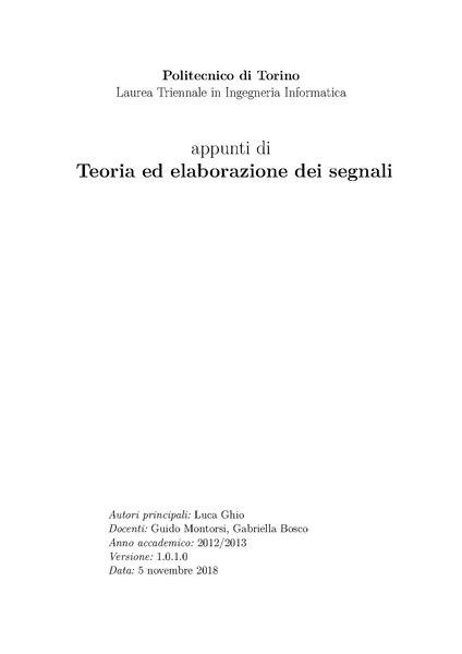 File:Appunti di Teoria ed elaborazione dei segnali.pdf
