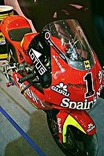 L'Aprilia RSV 250 del team Fortuna Aprilia, con la quale Lorenzo vinse il titolo mondiale nel 2006 e 2007.