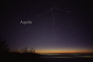 Aquila (constellation) - The constellation Aquila as it can be seen by the naked eye