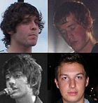 The four members of English indie rock group Arctic Monkeys. Image: MGA73bot2.