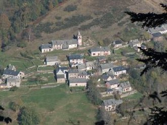 Ardengost - An overhead view of the village