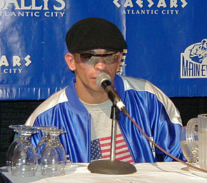 The Ring magazine Fight of the Year - Arturo Gatti at post-fight press conference on June 7, 2003 after his third fight with Micky Ward