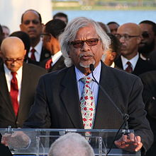 Arun Gandhi at Martin Luther King, Jr. Memorial 4 April 2012 crop.jpg
