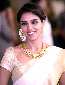 A photograph of Asin celebrating Onam in 2012