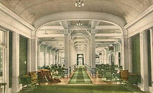 Mount Washington Hotel - Image: Assembly Hall from Ballroom, The Mount Washington Hotel