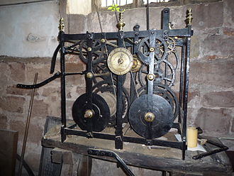 Astley, Warwickshire - 1773 turret clock in the church of St Mary the Virgin
