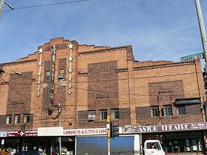 The Astor Theatre, Melbourne - The Astor Theatre front facade from Chapel Street.