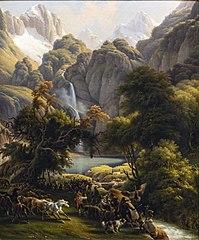 La Chasse à l'ours vers la cascade du lac d'Oo, près de Bagnères-de-Luchon