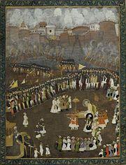 Aurangzeb au siège de Satara