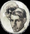 Autorretrato con calavera (c. 1918).png