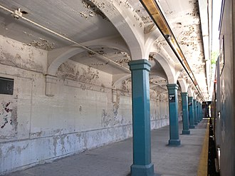 Avenue U (BMT Sea Beach Line) - The southbound platform prior to its renovation