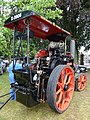 Aveling and Porter steam tractor, Dougal, footplate view, Abergavenny.jpg