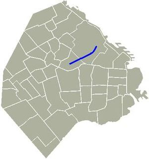 Avenida Raúl Scalabrini Ortiz - Location of Avenida Scalabrini Ortiz in Buenos Aires